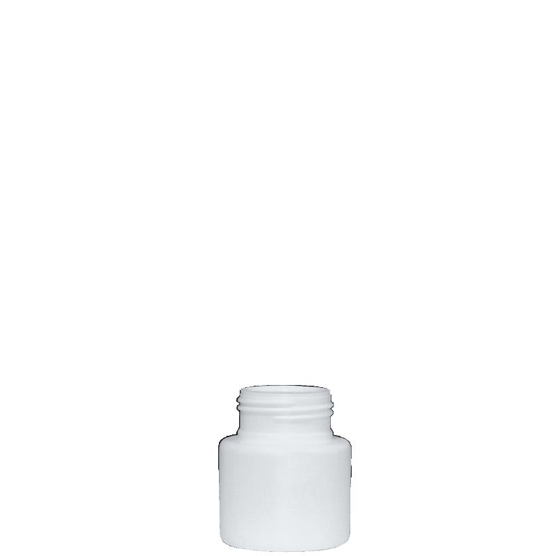 Flacone circolare 85 ml HDPE, collo 38TI, linea VILNIUS