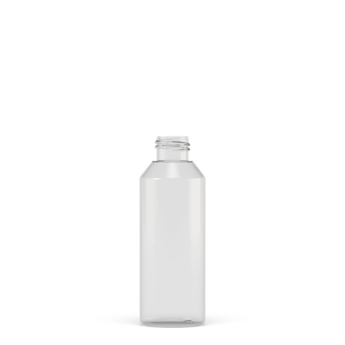 Flacone cilindrico spalla conica 125 ml PETG, collo 24/410, linea MANHATTAN