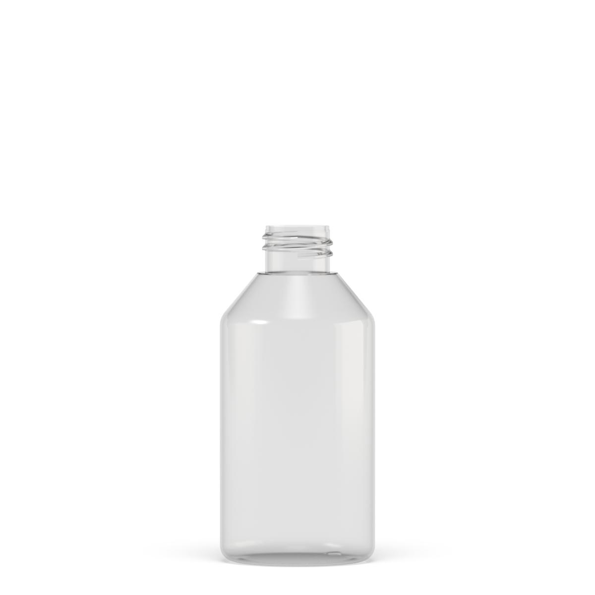 Flacone cilindrico spalla conica 250 ml PETG, collo 24/410, linea MANHATTAN