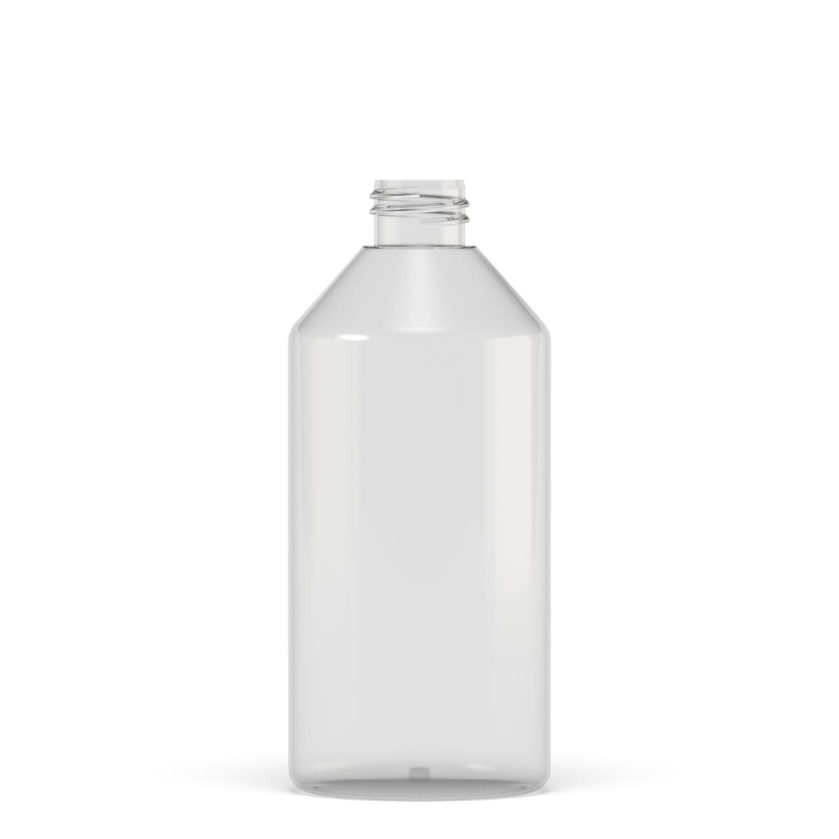 Flacone cilindrico spalla conica 500 ml PETG, collo 28/410, linea MANHATTAN