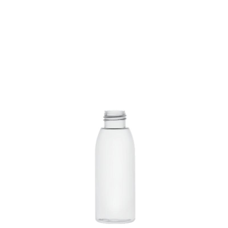Flacone cilindrico 100 ml PVC, collo 24/410, linea ISCHIA