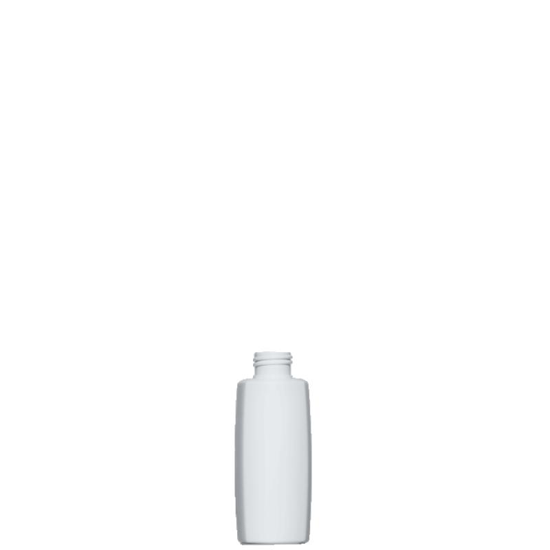 Square bottle 100 ml HDPE/PP, neck 24/410, style DAMASCO