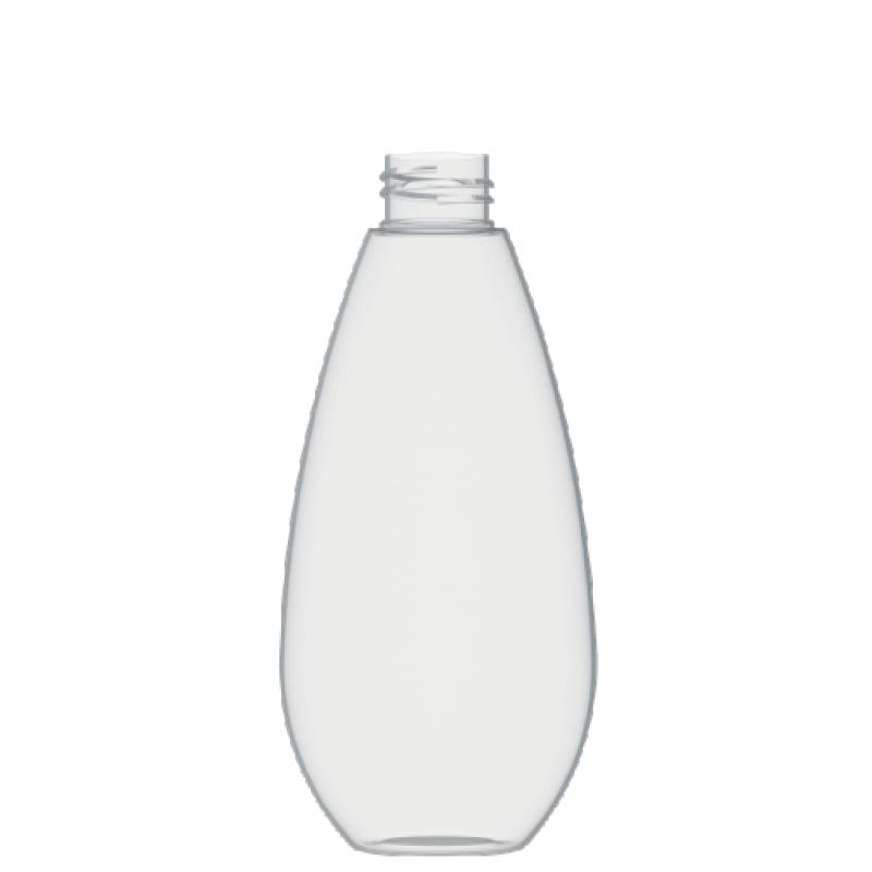 Drop shape bottle 200 ml PETG, neck 28/410, style TROPEA