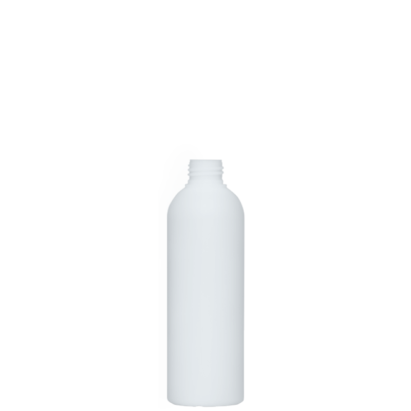 Flacone circolare 250 ml HDPE/PP, collo 24/410, linea ISCHIA