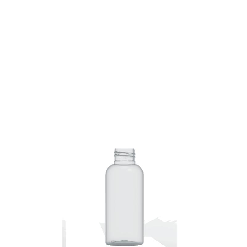 Flacone circolare 100 ml PET, collo 24/410, linea ISCHIA