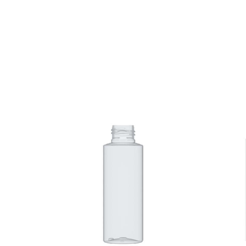 Flacone circolare 100 ml PET, collo 24/410, linea DUBAI