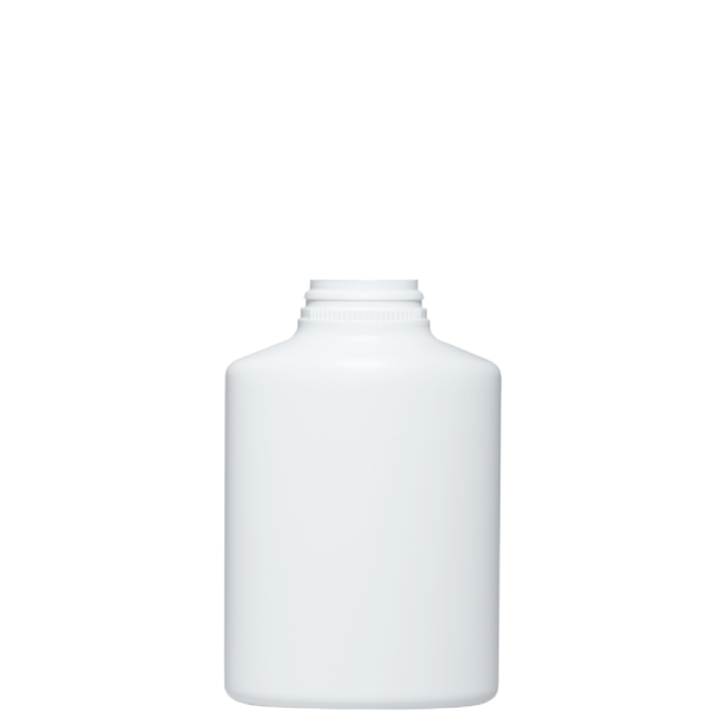 Round bottle for talc 400 ml HDPE, neck snap-on, style BERNA