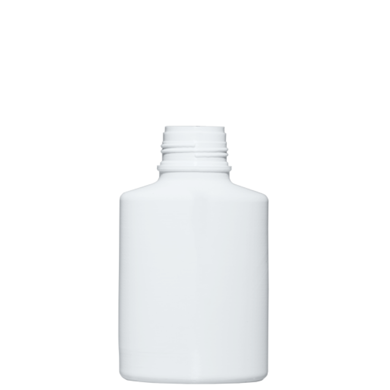 Round bottle for talc 400 ml HDPE, neck 40 mm, style BERNA