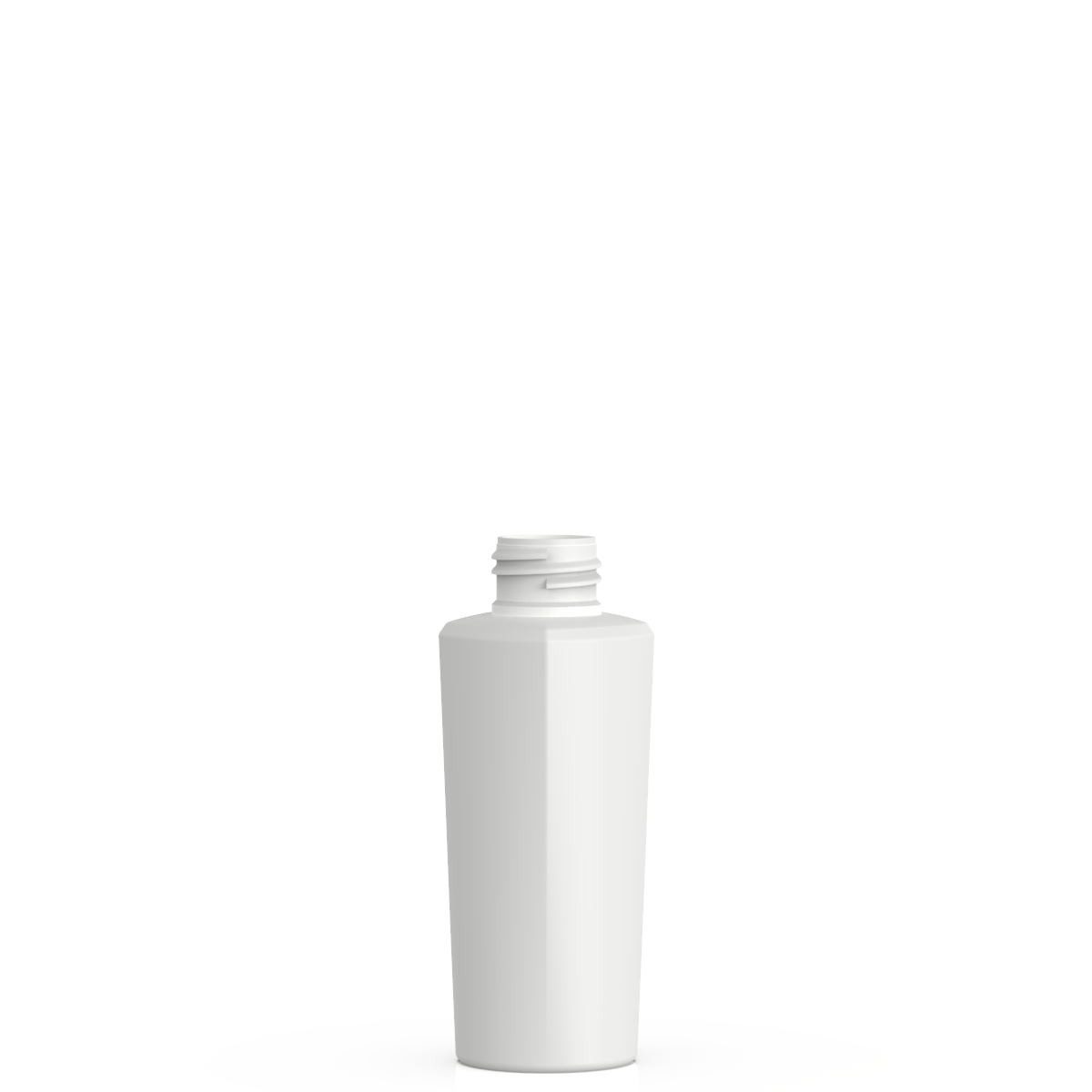 Semi-cylindrical bottle 100 ml HDPE/PP, neck 24/410, style LOS ANGELES