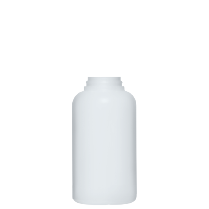 Round bottle for talc 350 ml HDPE, neck snap-on, style BERNA