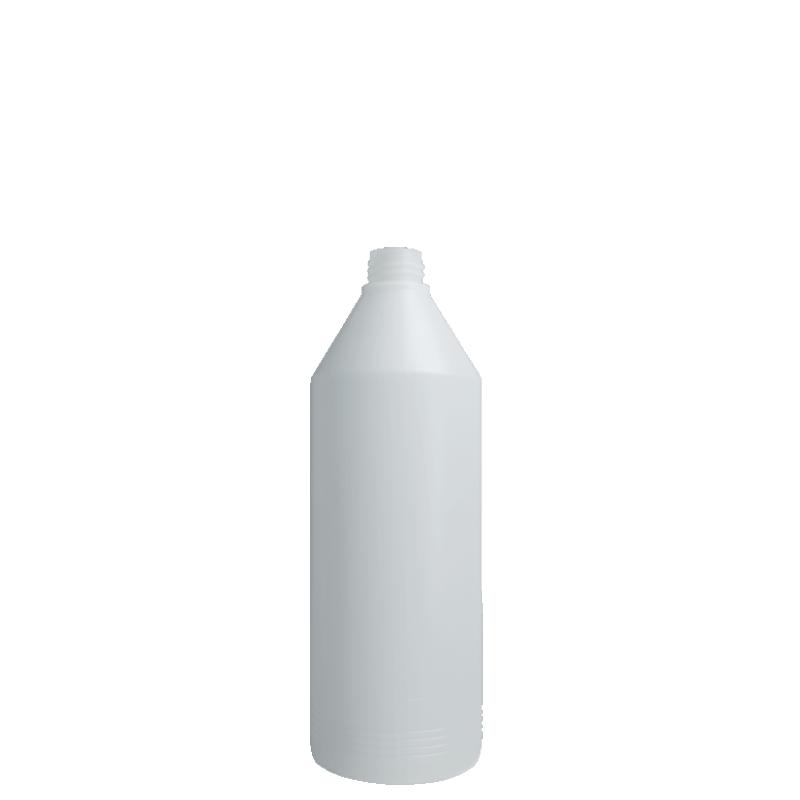 Flacone cilindrico 1 lt HDPE, collo 28/410, linea ANTIGUA