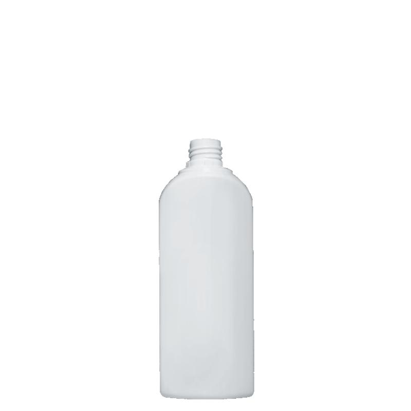 Flacone sagomato spalla raggiata 500 ml HDPE, collo 28/410, linea HOUSEHOLD