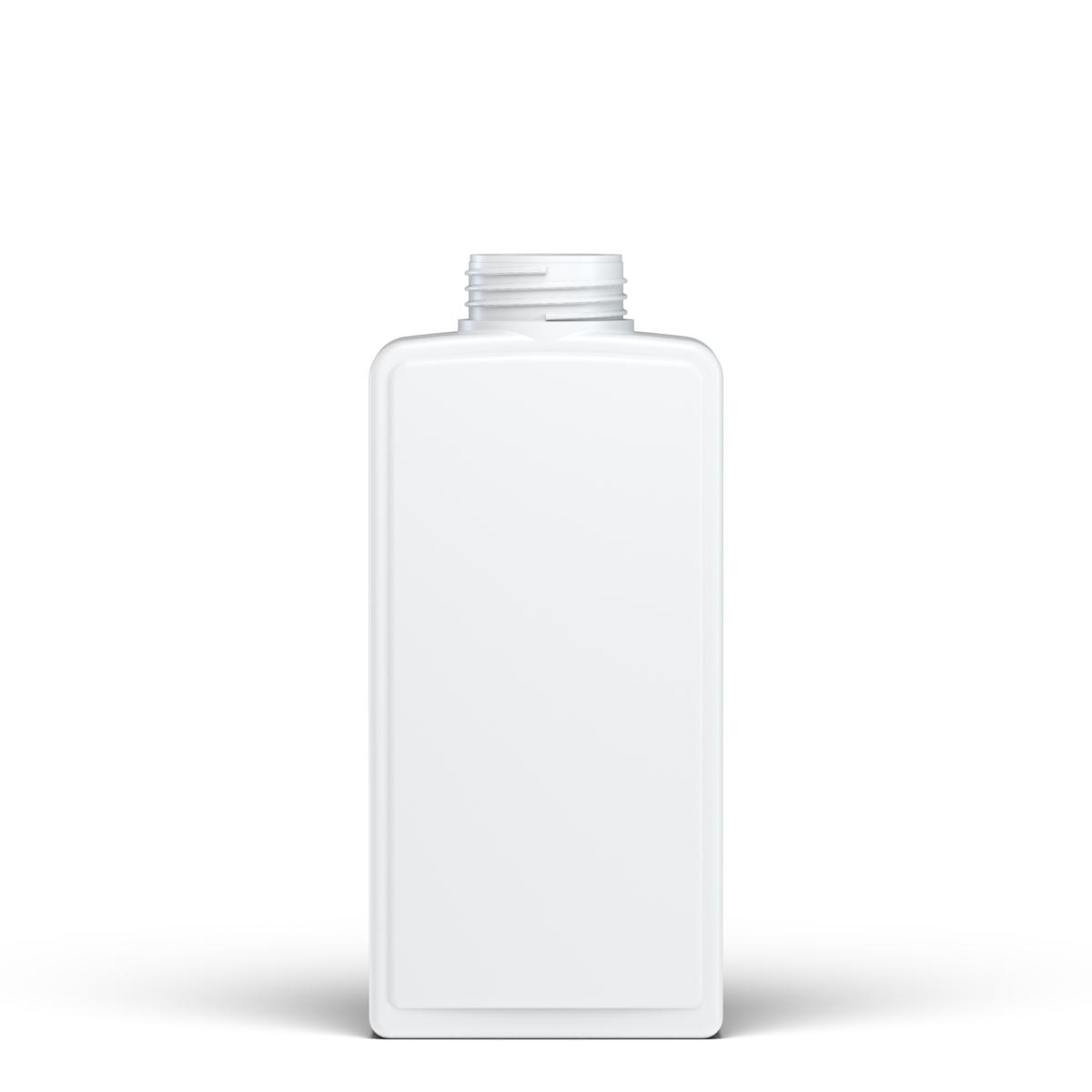 Flacone rettangolare 650 ml HDPE, collo 46 mm, linea HOUSEHOLD