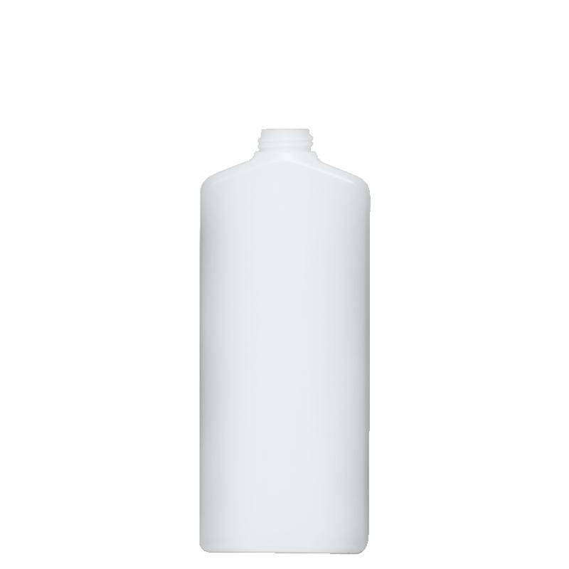 Flacone rettangolare 750 ml HDPE, collo 28/410, linea HOUSEHOLD