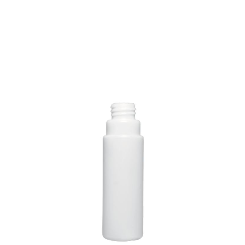 Round bottle 100 ml HDPE, neck 28 mm, style VILNIUS