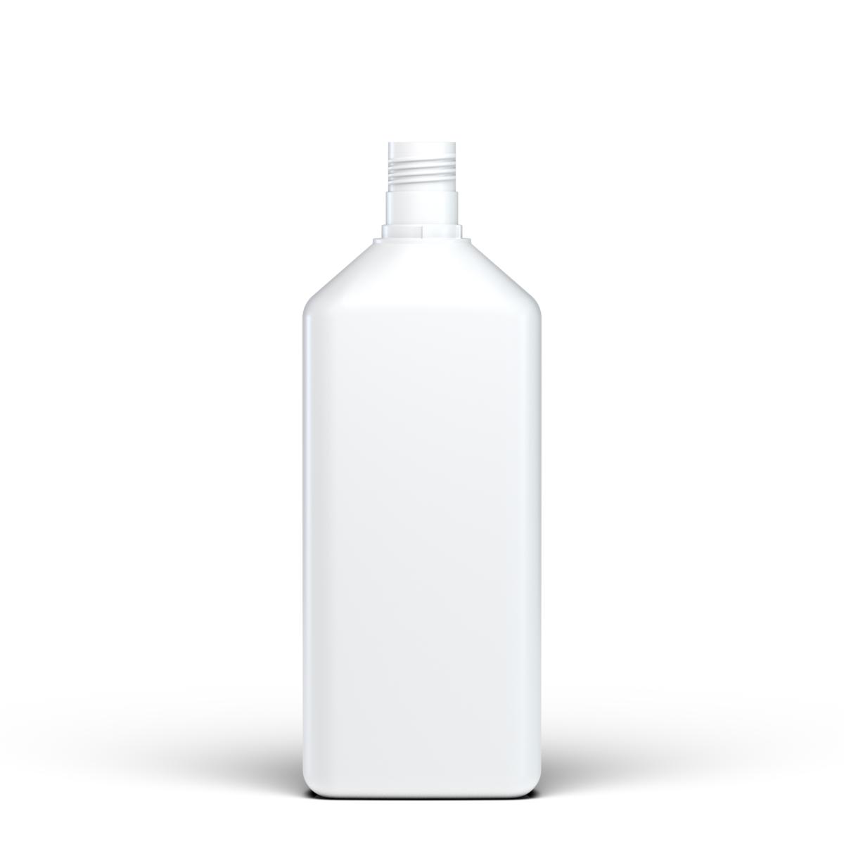 Rectangular bottle 1 lt HDPE, neck 30mm, style FLOREANA