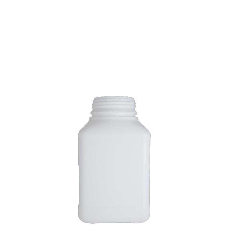 Contenitore quadrato 1 lt HDPE/COEX PA, collo DIN63, linea ANTIGUA (Reale)