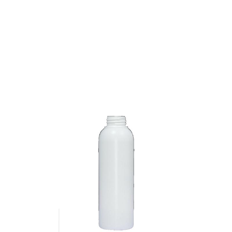 Flacone circolare 120 ml HDPE/PP, collo 24/400, linea ISCHIA