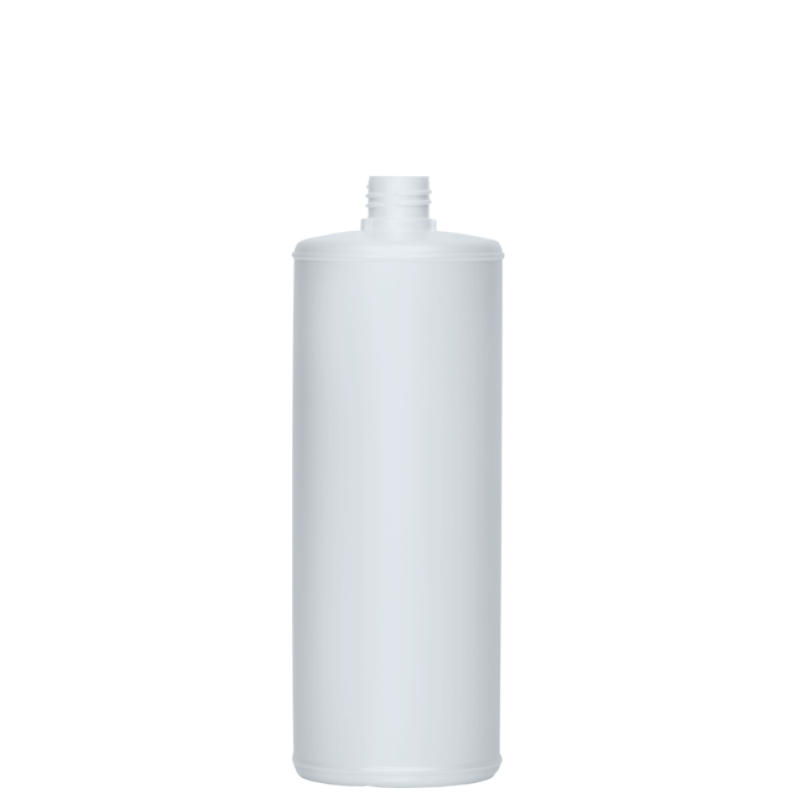 Cylindrical bottle 1 lt HDPE/COEX, neck 28TE, style ANTIGUA