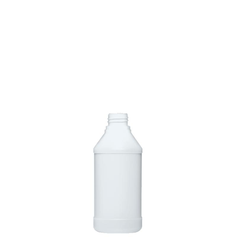 Cylindrical bottle 350 ml HDPE, neck 28TE, style ANTIGUA