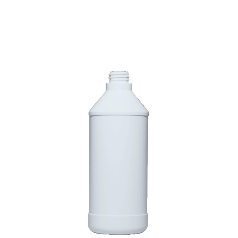Flacone cilindrico 750 ml HDPE, collo 28/410 per trigger, linea ANTIGUA