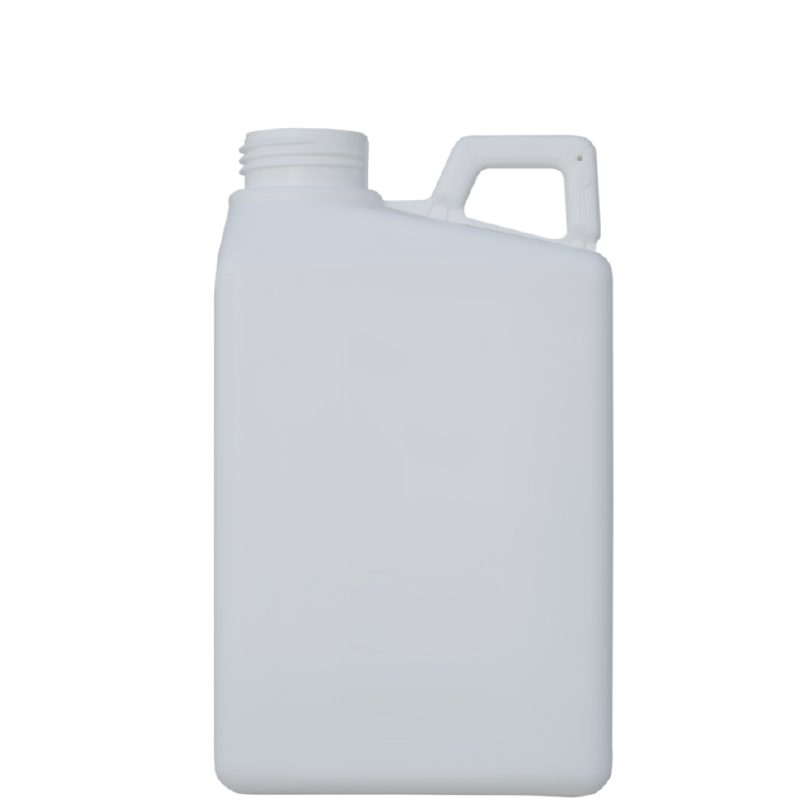 Pinched handle jerrycan 2 lt HDPE/COEX, neck 50TI, style MADAGASCAR