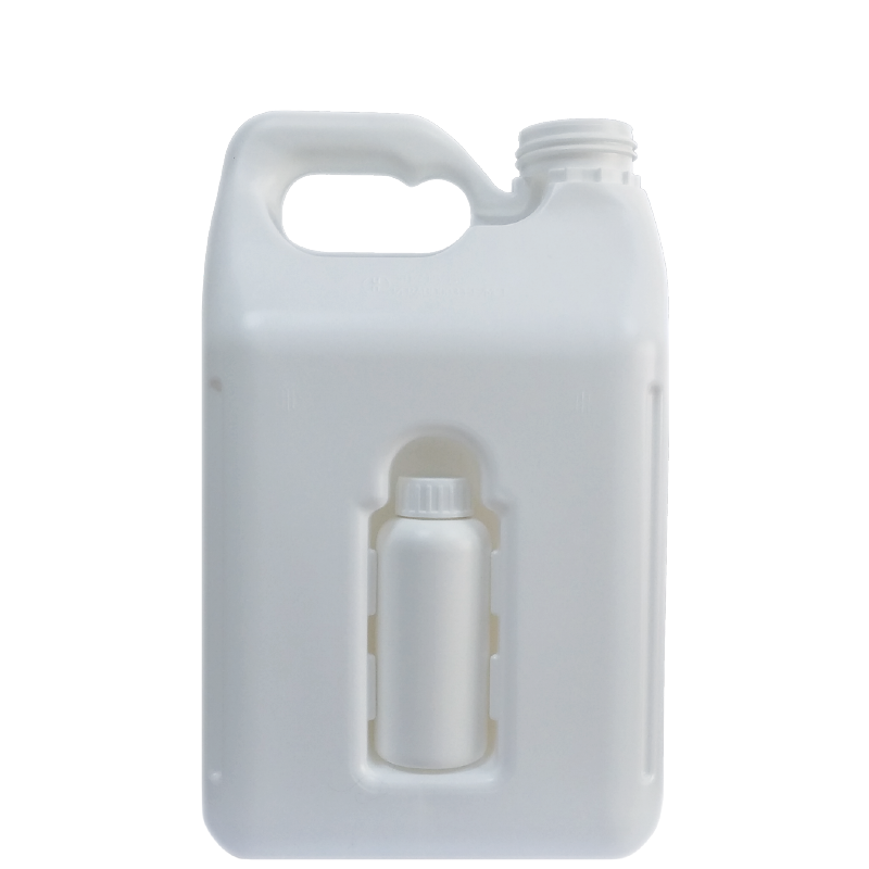 Backflow jerrycan 5 lt with hole, HDPE, neck DIN50TE, style ANTIGUA