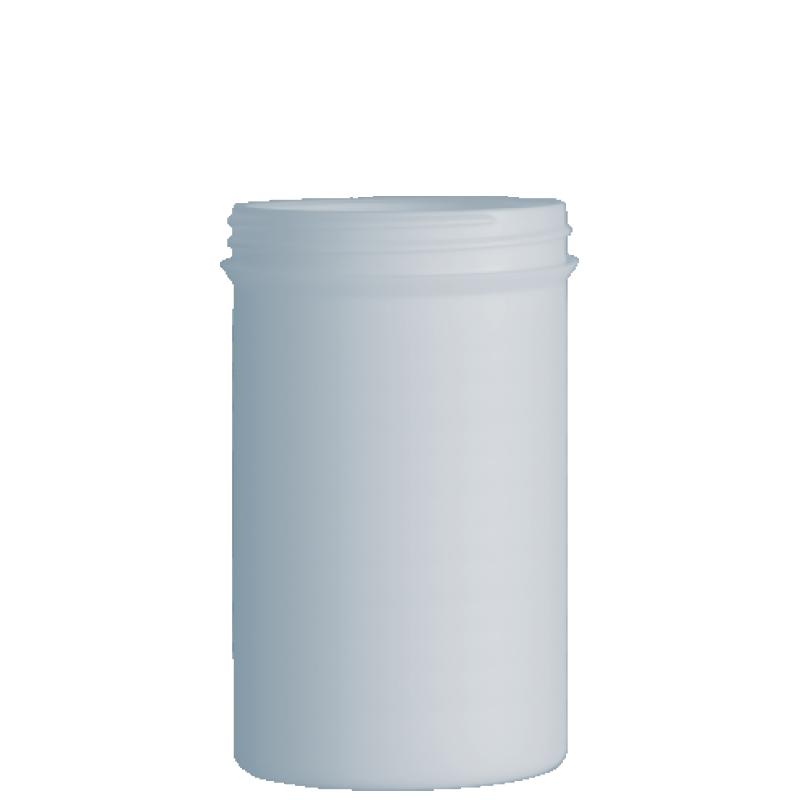 Vaso circolare 1 lt HDPE/PP,  collo 100 mm, linea ELBA