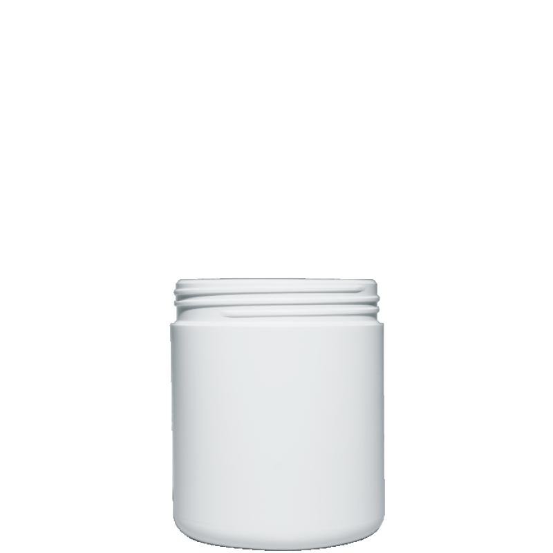 Vaso circolare 1 lt HDPE/PP, collo 110 mm, linea ELBA