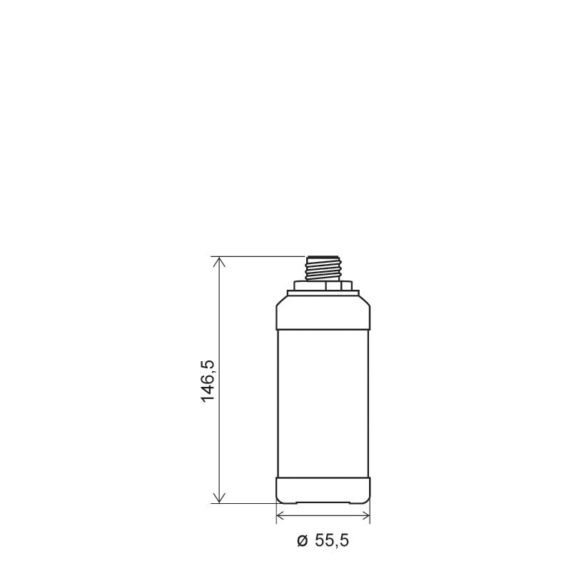 Flacone cilindrico 250 ml HDPE, collo 22TE, linea ANTIGUA (Disegno)