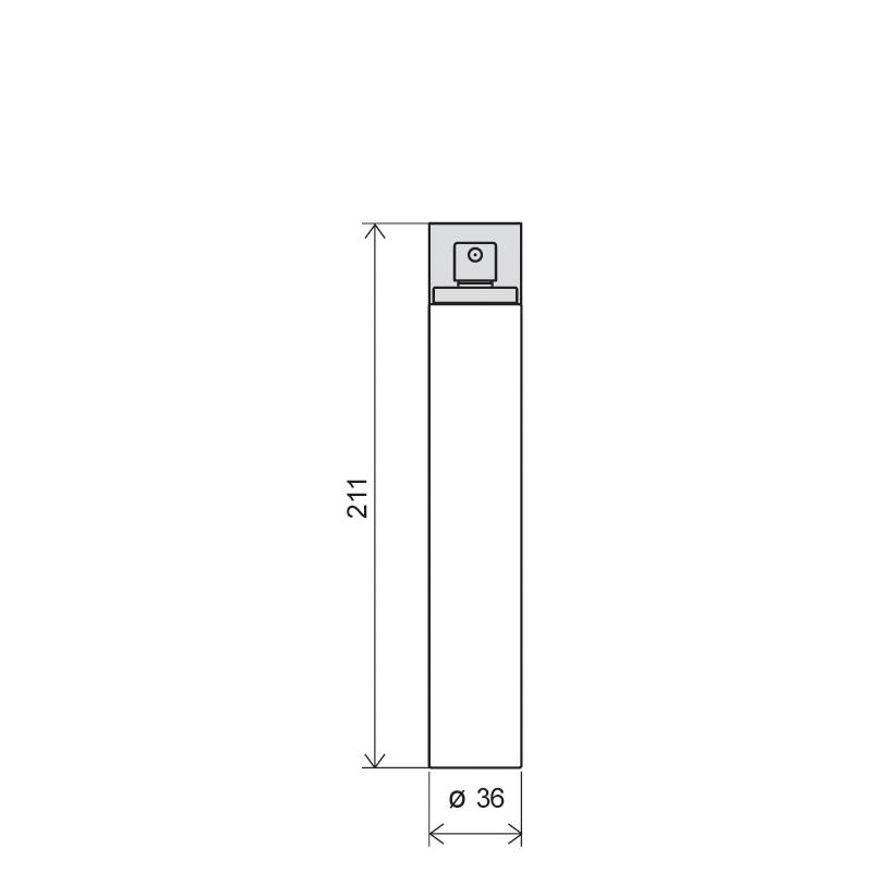 Flacone cilindrico 150 ml PETG, collo snap-on, linea ATENE (Disegno)
