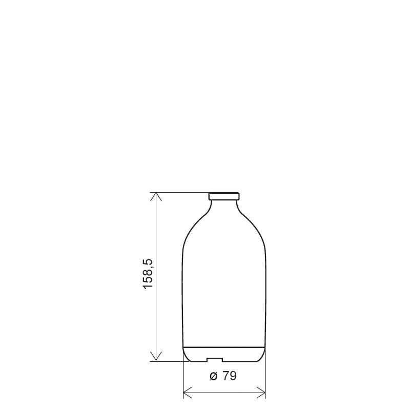 Flacone flebo 500ml PP, linea BASILEA (Disegno)