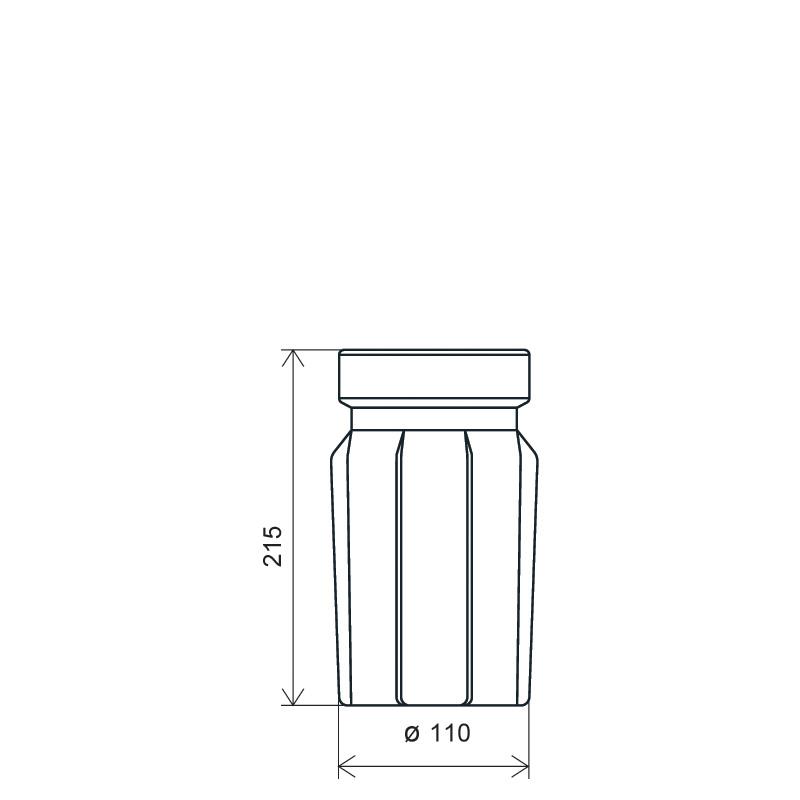 Flacone sacca operatoria 500 ml LPDE, linea BASILEA (Disegno)