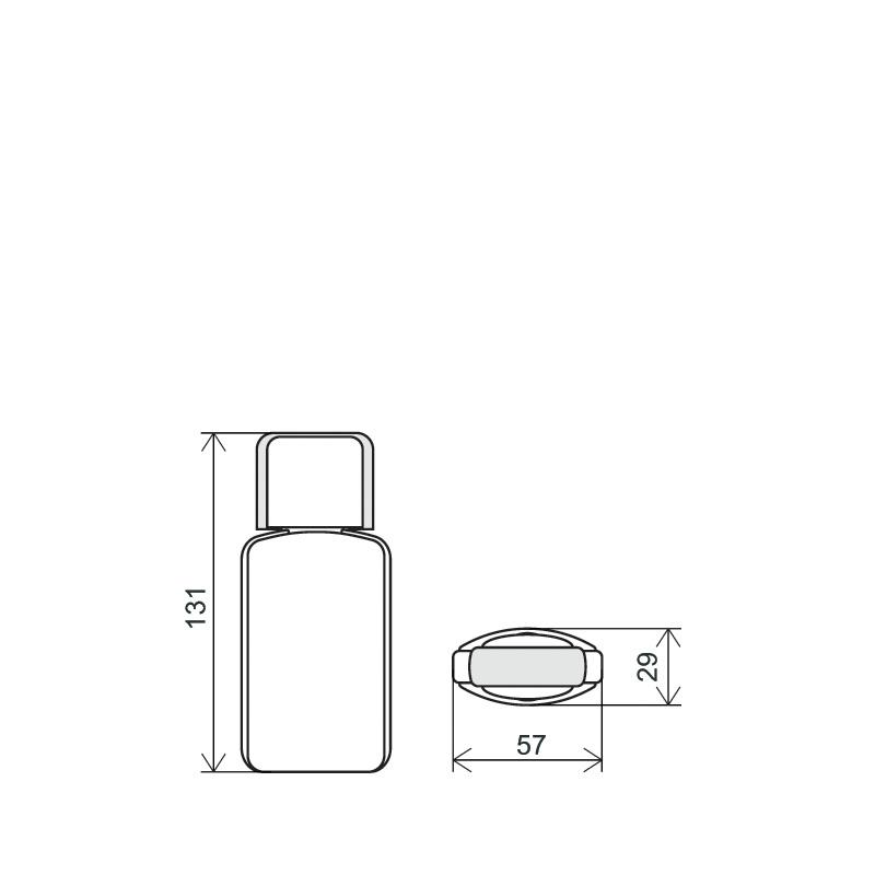 Flacone sagomato 100ml HDPE/PP, collo 20mm, linea PARIGI (Disegno)