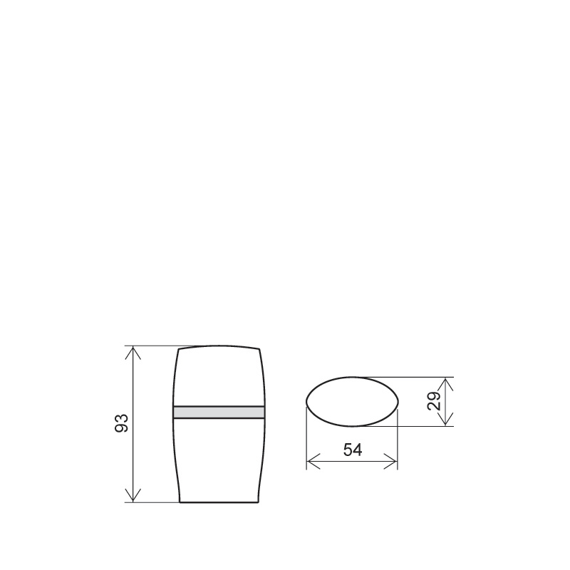 Flacone ovale 15+15 ml PP, collo snap-on, line NEW DUO (Disegno)