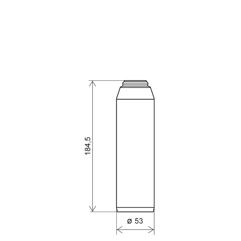 Powder bottle 300 ml HDPE, neck 30mm, style GOA (Draft)