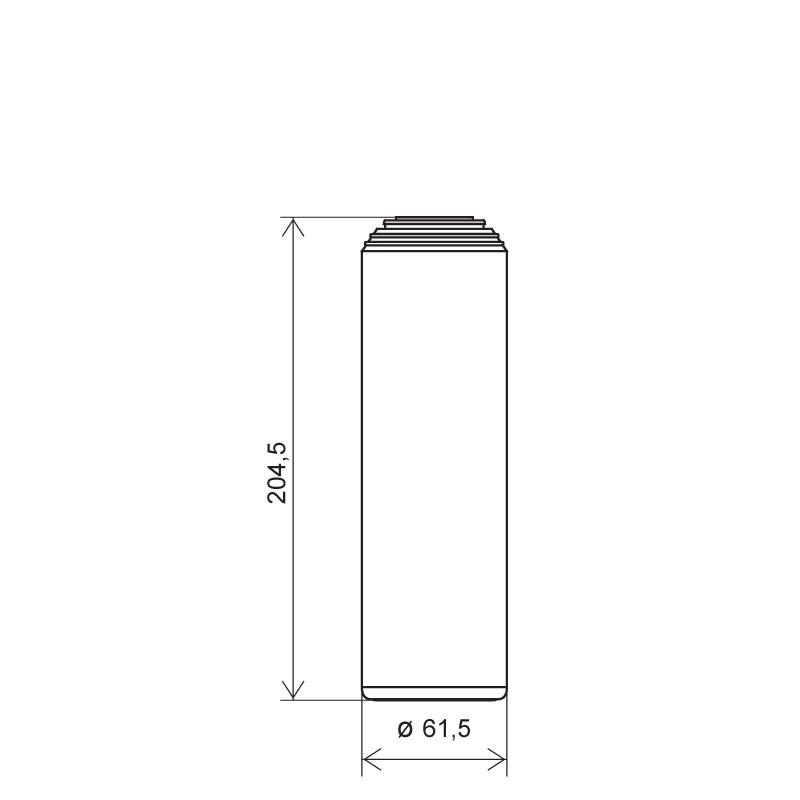 Powder bottle 500 ml HDPE, neck 30mm, style GOA (Draft)
