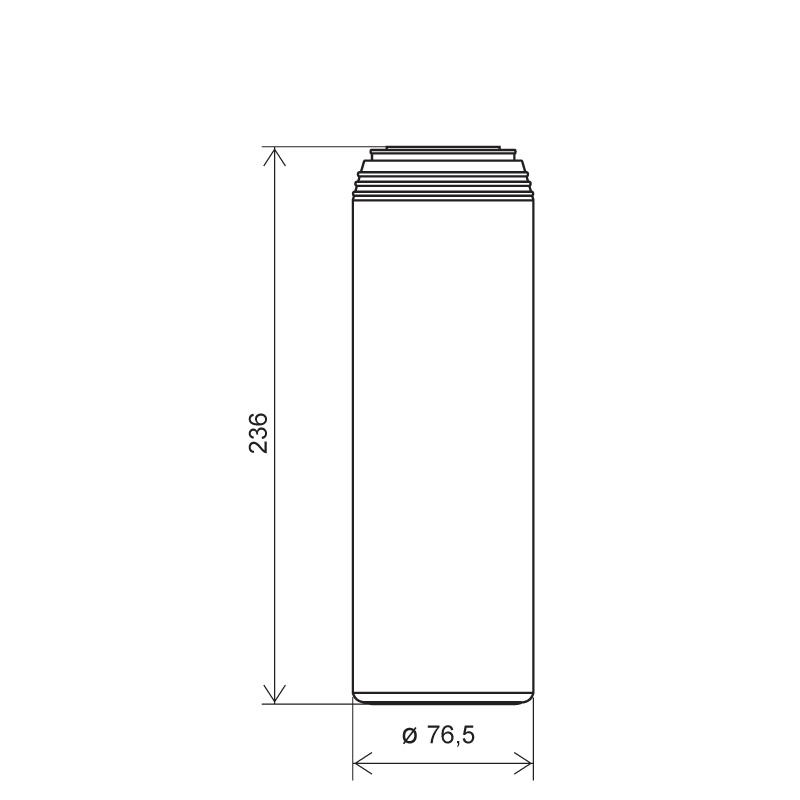 Powder bottle 1 lt HDPE, neck 45mm, style GOA (Draft)