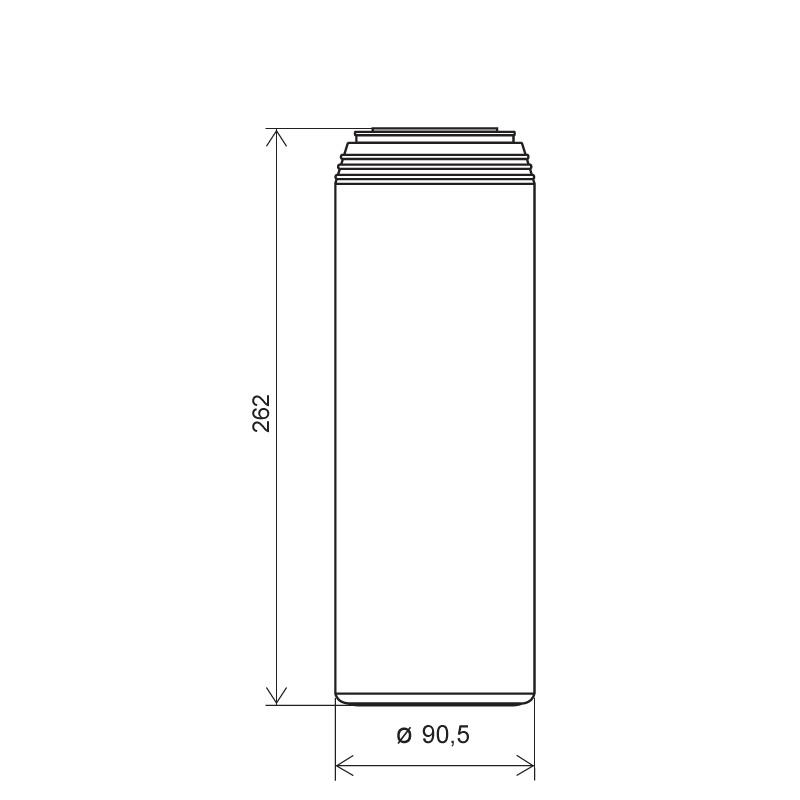 Powder bottle 1,5 lt HDPE, neck 45mm, style GOA (Draft)