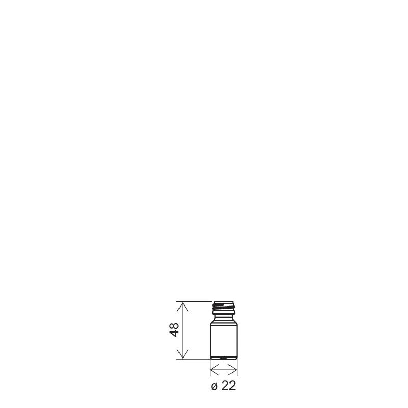 Fiala cilindrica 5 ml HDPE, collo PFP18, linea ZANZIBAR (Disegno)