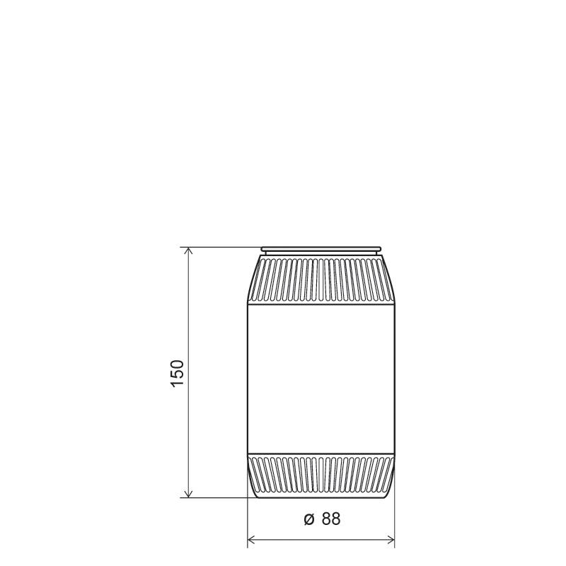 Powder bottle 800 ml HDPE, neck 60mm, style GOA (Draft)