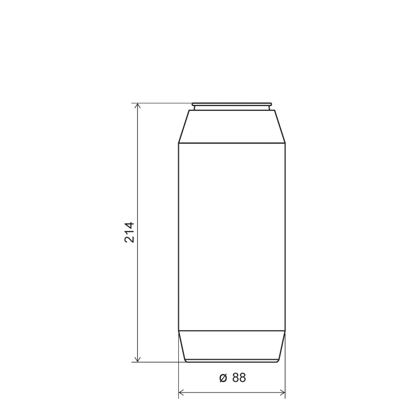 Powder bottle 1,2 lt HDPE, neck 60mm, style GOA (Draft)