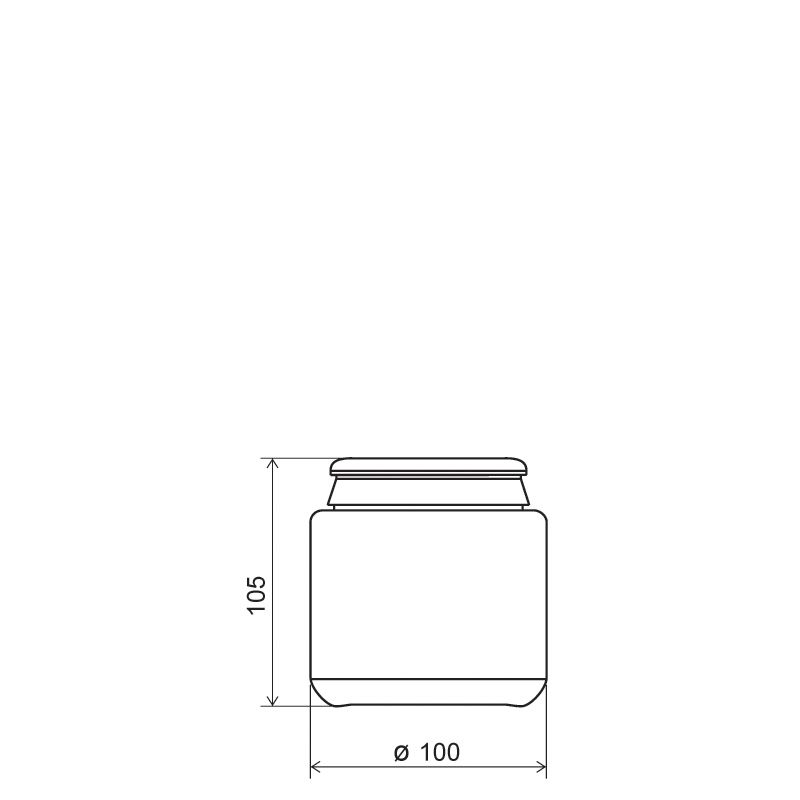 Contenitore cilindrico 600 ml HDPE, collo snap-on, linea AMIRANTES (Disegno)
