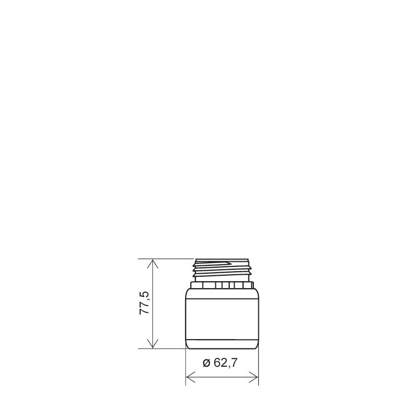 Cylindrical bottle 100 ml HDPE/COEX, neck DIN50TE, style ZANZIBAR (Draft)