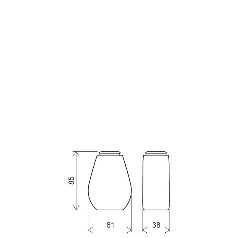 Flacone a goccia 100 ml PETG, collo snap-on, linea TROPEA (Disegno)