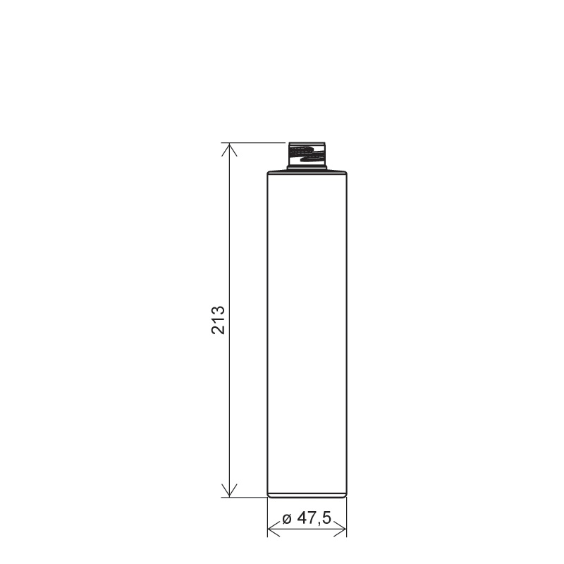 Flacone circolare 300 ml HDPE/PP, collo 24/410, linea NEW YORK (Disegno)