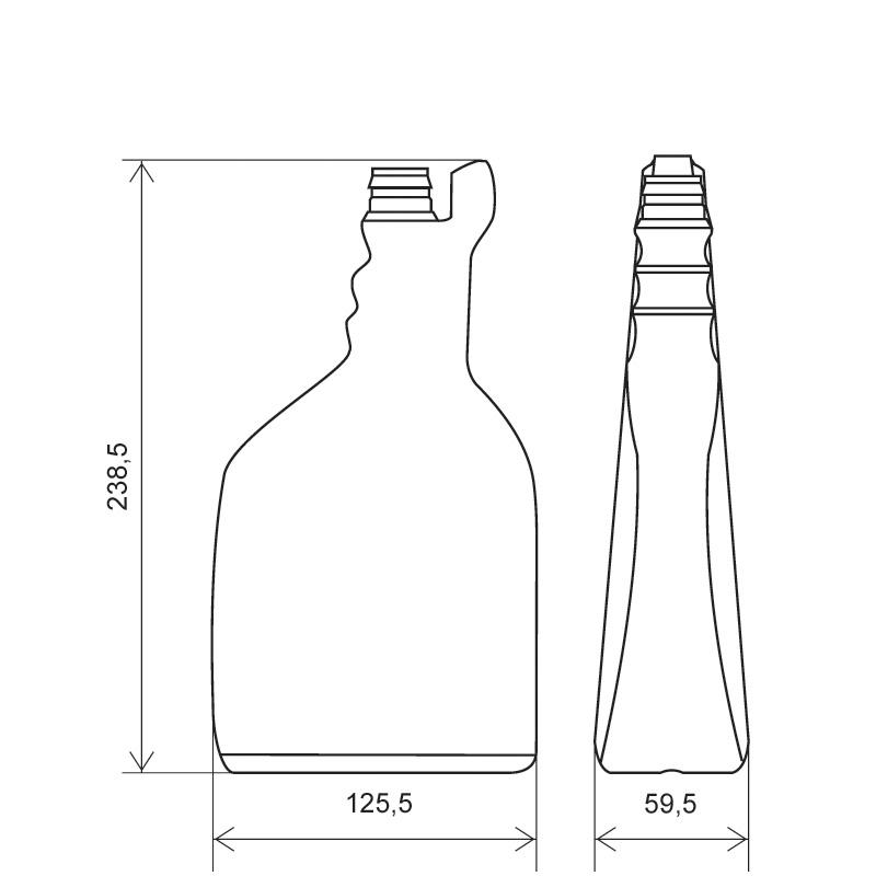 Sprayer 750 ml HDPE, collo snap-on, linea MAURITIUS (Disegno)