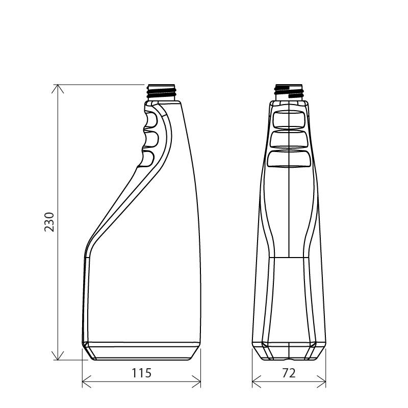Sprayer 1 lt HDPE, collo 28/410, linea FLOREANA (Disegno)
