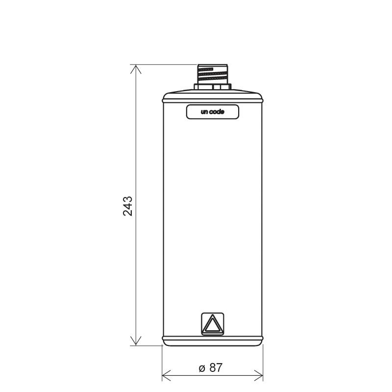 Flacone cilindrico 1 lt HDPE/COEX, collo 28TE, linea ANTIGUA (Disegno)