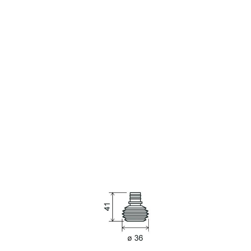 Flacone clistere 15 ml PP, collo snap-on, linea BASILEA (Disegno)